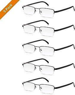ee66d0c253 Read Optics: Pack x5 de Gafas de Lectura Presbicia Ligeras y Resistentes  para Hombre/