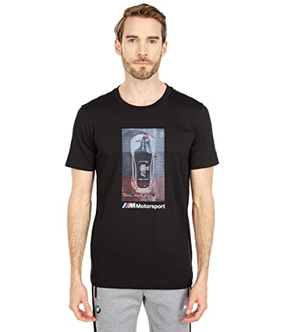 PUMA BMW MMS Graphic Tee (PUMA Black) Men