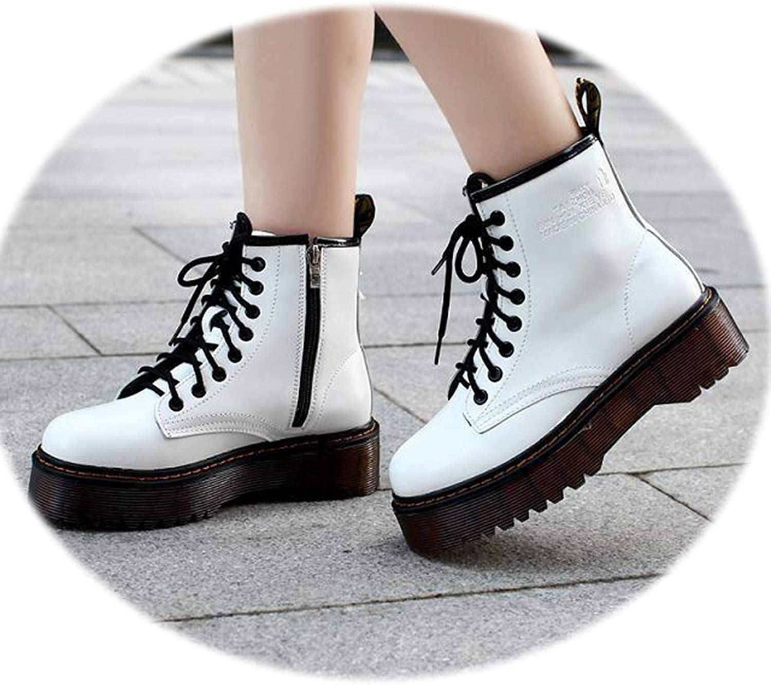 Red Black Ankle Boots for Women shoes Punk Short Motorcycle Leather Boots