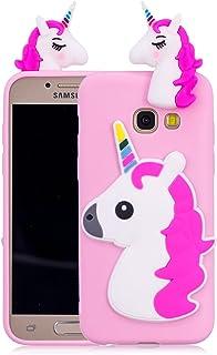 ed2760e1ed6 Funluna Funda Samsung Galaxy A5 2017, 3D Unicornio Silicona Dibujo Animado  Suave Case Cover Protección