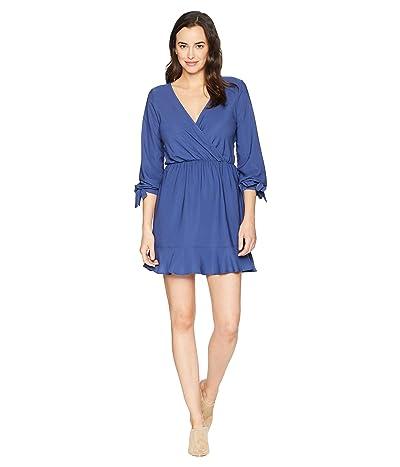 American Rose Ella V-Neck Dress (Blue Fog) Women