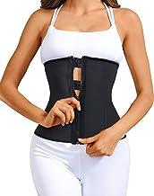 YIANNA Zip Taille Trainer voor Vrouwen Latex Cincher Corset Training Body Shaper Workout Girdle