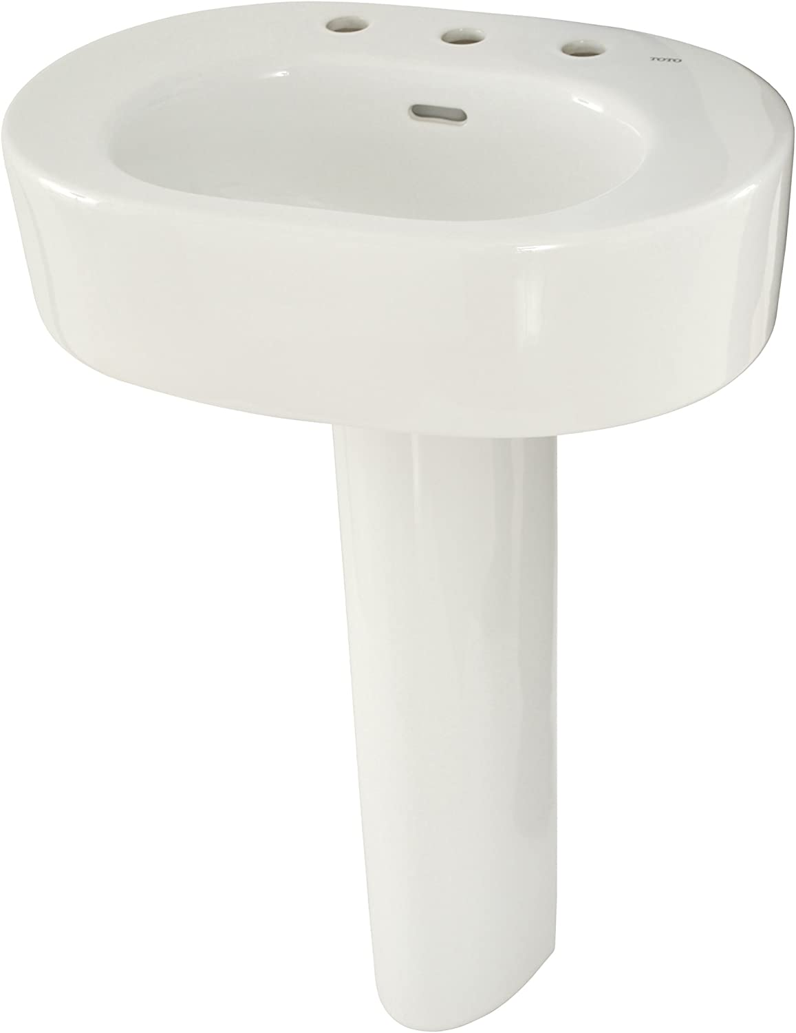 Toto Lpt790 8 11 Nexus Lavatory And Pedestal With 8 Inch Centers Colonial White Pedestal Sinks Amazon Com