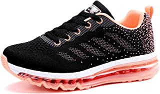 Ezkrwxn Women mesh Breathable Sport Running Tennis Athletic Walking Shoes