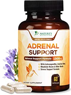 Sponsored Ad - Adrenal Support and Stress Support 1300mg - Extra Strength Stress Support and Adrenal Support Supplement wi...