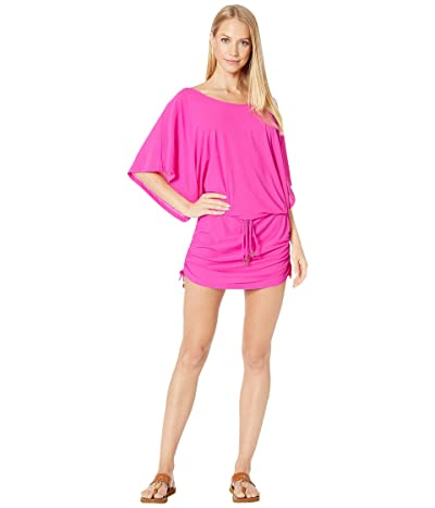 Luli Fama Cosita Buena South Beach Dress Cover-Up (Poppin Pink) Women