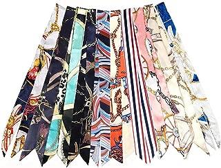 6Pcs Bag Handbag Handle Ribbon Scarf for Package Band Hair Head Band Neck Scarf Fashion Gifts