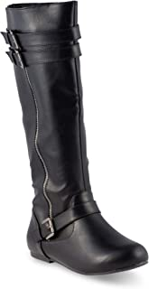 Twisted Women's Shelly Wide Width Wide Calf Knee-High Boot