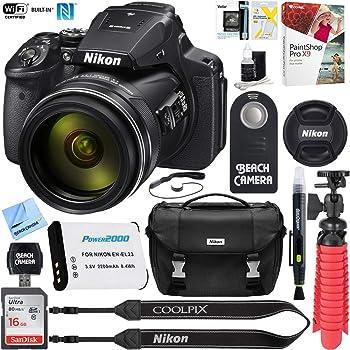Nikon COOLPIX P900 16MP 83x Optical VR Zoom Digital Camera + 16GB Memory & Accessory Bundle (Renewed)
