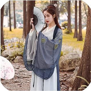 Women Costume Fairy Ancient Princess Hanfu Chinese Folk Dance Traditional Costume Chiffon Dress