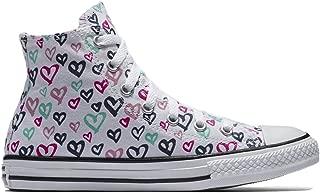 Converse Chuck Taylor All Star Hi Top Hearts White/White/Black