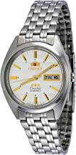 Orient #FAB0000DW Men's 3 Star Stainless Steel Silver Dial Day Date Automatic Watch