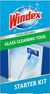 Windex Outdoor All-In-One Glass Cleaning Tool Starter Kit, 1 ct (Packaging May vary)