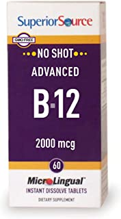 Superior Source No Shot Advanced B12 Vitamins, 2000 mcg, 60 Count