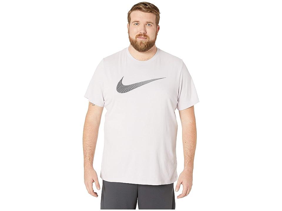 Nike Big Tall Dry Tee Dri-Fit Cotton 2 Year Swoosh (Pink Foam/Pale Pink/Black) Men