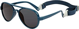 COCOSAND Baby Sunglasses with Strap Classic Aviator Style UV400 Protection for Age 0-24months