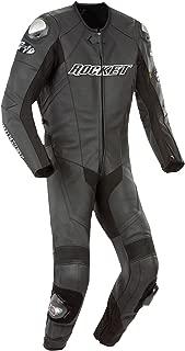 Joe Rocket Speedmaster 6.0 Men's One-Piece Motorcycle Race Suit (Black/Black/Black, Size 46)