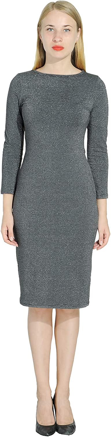 Marycrafts Women's Glitter Formal Cocktail Party Guest Dress