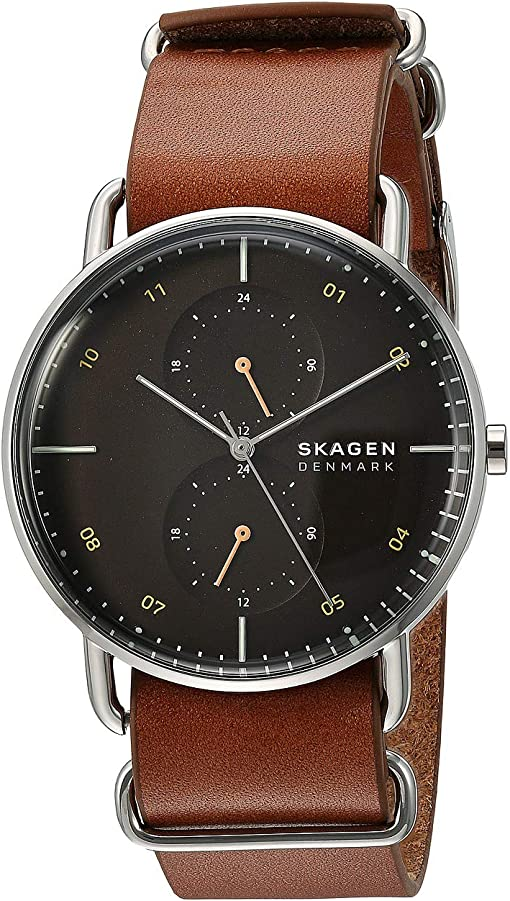 SKW6537 Silver Brown Leather