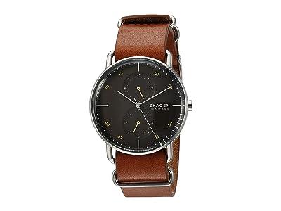 Skagen Horizont Multifunction Watch (SKW6537 Silver Brown Leather) Watches