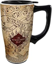 Spoontiques 12736 Harry Potter Solemnly Swear Ceramic Travel Mug, 18 ounces, Off Off White