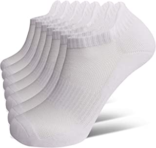 Closemate Ankle Athletic Running Socks 4/7 Pairs Low Cut Wicking Sport Cushion Tab Socks for Men and Women