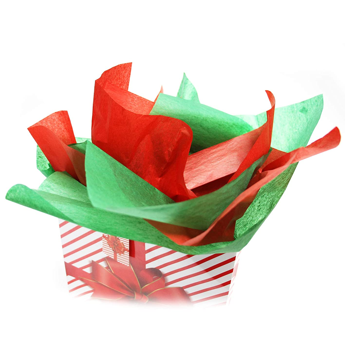 30-Sheet Christmas Tissue Paper (Red/Green) nmebufgzflu693