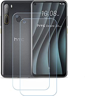 YZKJ 2 stycken skottsäkert glas skyddsfolie för HTC Desire 20 Pro, 9H hårdhet ultratydligt härdat glas displayskyddsfilm, ...