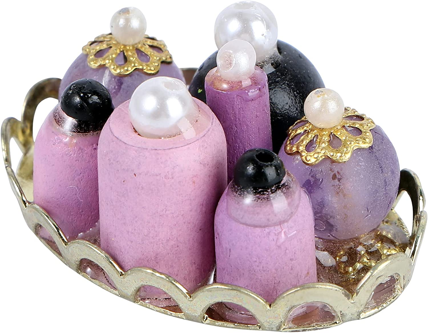 Ranking integrated 1st place NUOBESTY 1: Spasm price 12 Miniature Dollhouse Sets Accessories Mini Perfume