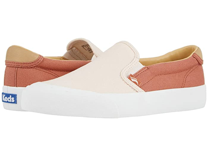 Keds  Crew Kick 75 Slip-On Canvas (Coral/Rose) Womens Shoes