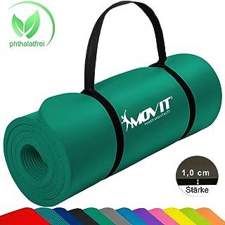 Movit® - Esterilla para Pilates - Sin ftalatos Colchoneta de Yoga/Gimnasia Homologada por la SGS - Largo 183 x 60 x 1,0 cm cm Estera de Yoga y Pilates Colchoneta de Yoga 12 Colores Diferentes