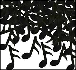 Beistle Black Music Notes Confetti-1 pack, 1 piece