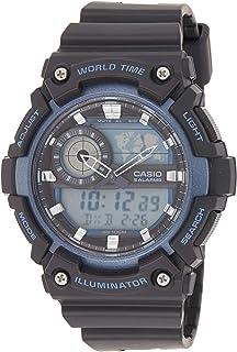 ساعة كاسيو للرجال كوارتز، شاشة عرض انالوج رقمية وحزام سيليكون طراز AEQ-200W-2AVDF