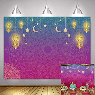 Magic Genie Theme Party Backdrop MME 10x7ft Egyptian Moroccan Arabian Nights Indian Bollywood Photography Background Princess Girl Baby Shower Birthday HXME512