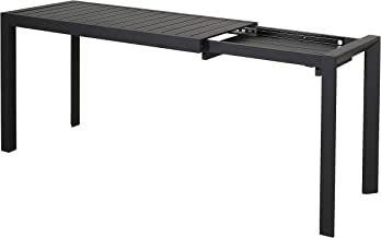 Chicreat - Mesa extensible de aluminio, 127-165 x 57 x 71,5 cm (negro)