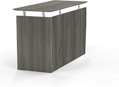 "Mayline Medina 48-1/2""W Non-Handed Return for use with Desks, sold separately, Gray Steel Laminate"