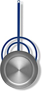 Vaello La Valenciana Miguera - Sartén con mango largo, color plateado, acero, Plateado, 45 cm