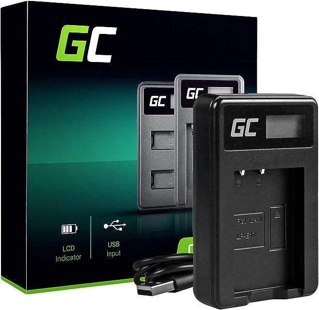 Green Cell LC-E17 Cargador para Canon LP-E17 Batería y EOS 750D EOS 760D EOS 77D EOS 8000D EOS Rebel SL2 EOS Rebel T6i EOS Rebel T6s EOS Rebel T7i Kiss X8i Cámaras (5W 8.4V 0.6A Negro)