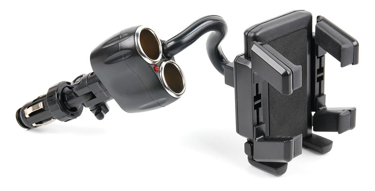 見捨てる打ち負かすフェデレーションDURAGADGET シェイクププルーフ電話ホルダー 調節可能なシガレットライターマウント付き Binatone G500に対応