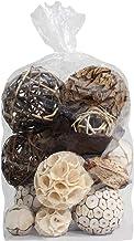 Blue Donuts Decorative Balls for Centerpiece – Decorative Bowl Fillers, Assorted Rattan Wicker Balls Orb Grapevine Ball, V...
