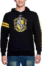 Elbenwald Harry Potter Hoodie Hogwarts huizen CREST en school CREST frontprint en mouw print met capuchon en tas voor mannen