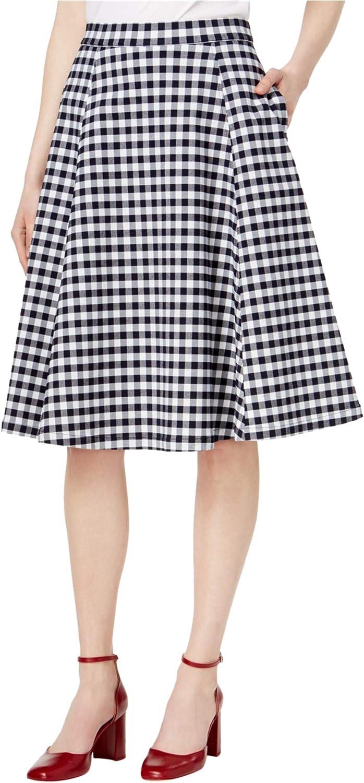 Maison Jules Womens Gingham ALine Skirt