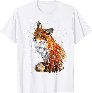 Tshirt, Hand painted Fox Tshirt