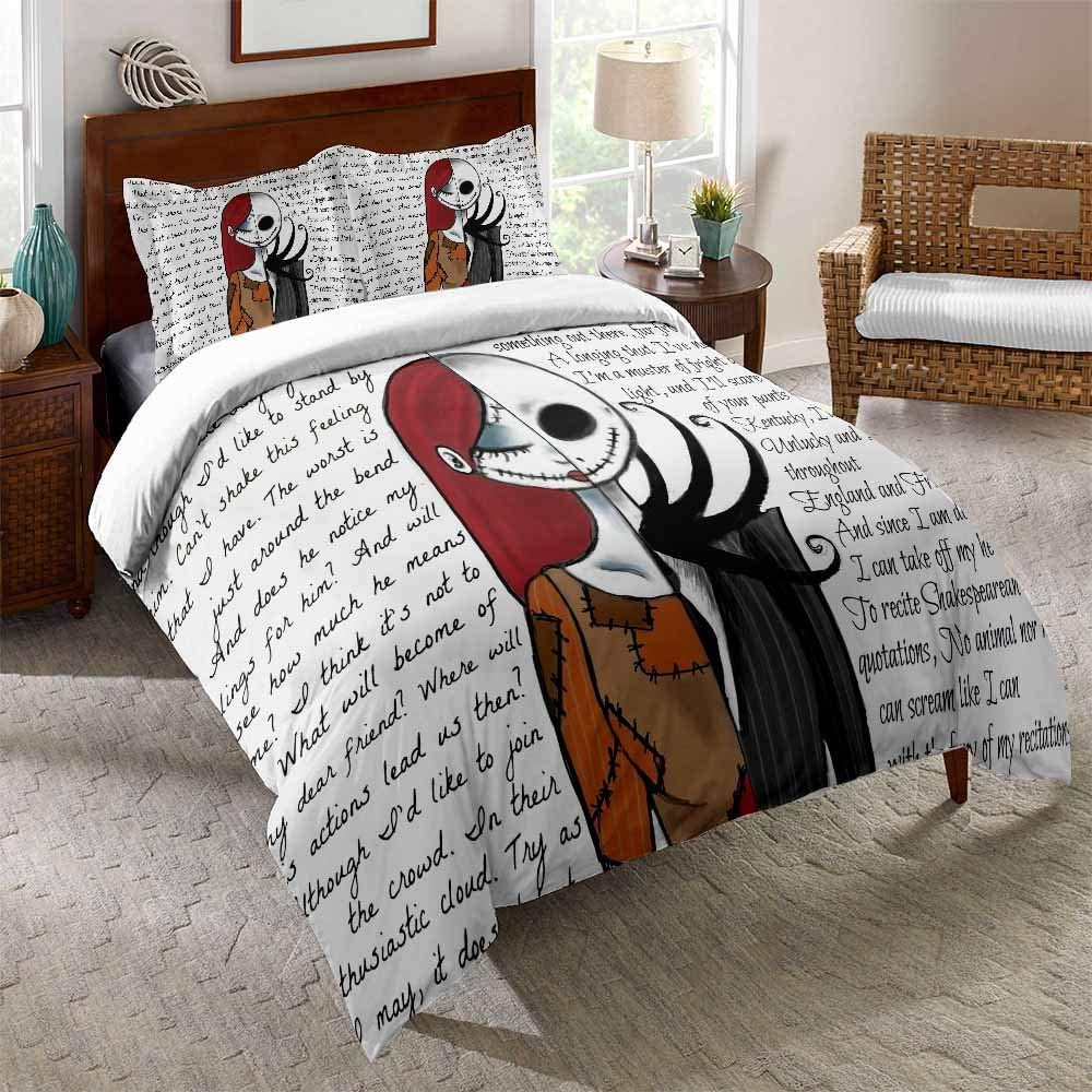 New popularity URLINENS Nightmare Before Christmas Chicago Mall Bed Set Full Jack 3 an Piece