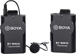 Newest BOYA by-WM4 Universal Lavalier Wireless Microphone Mic with Real-time Monitor for iOS Smartphone Tablet DSLR Camera...