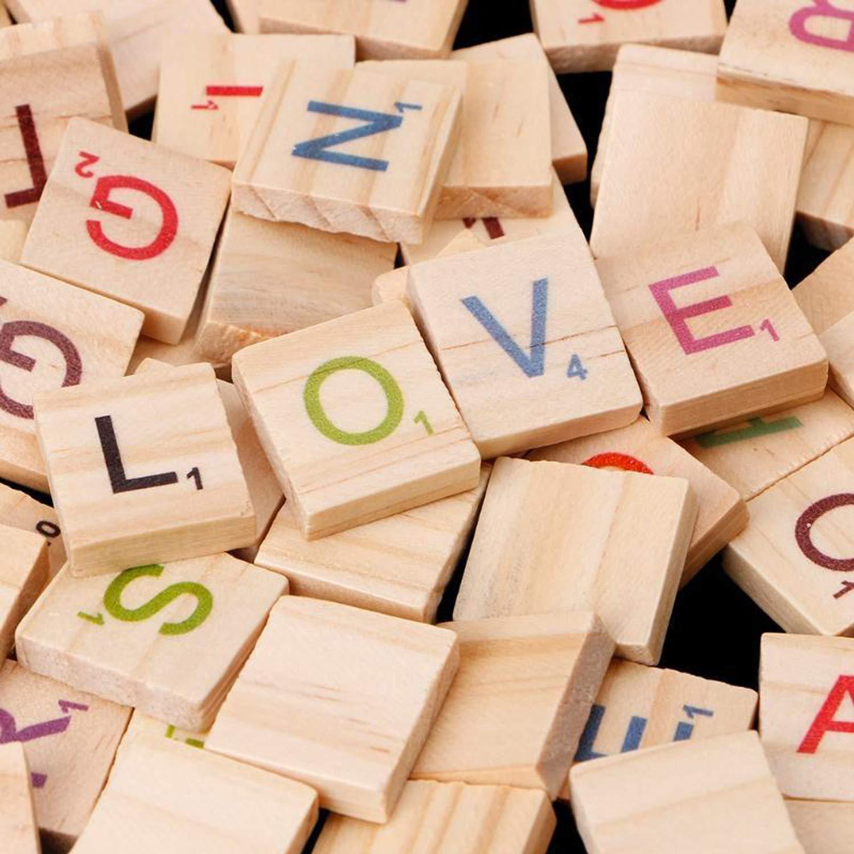 Scrabble Tiles - Baldosas de Madera para Letras mayúsculas A-Z para Manualidades, 200 Unidades: Amazon.es: Juguetes y juegos