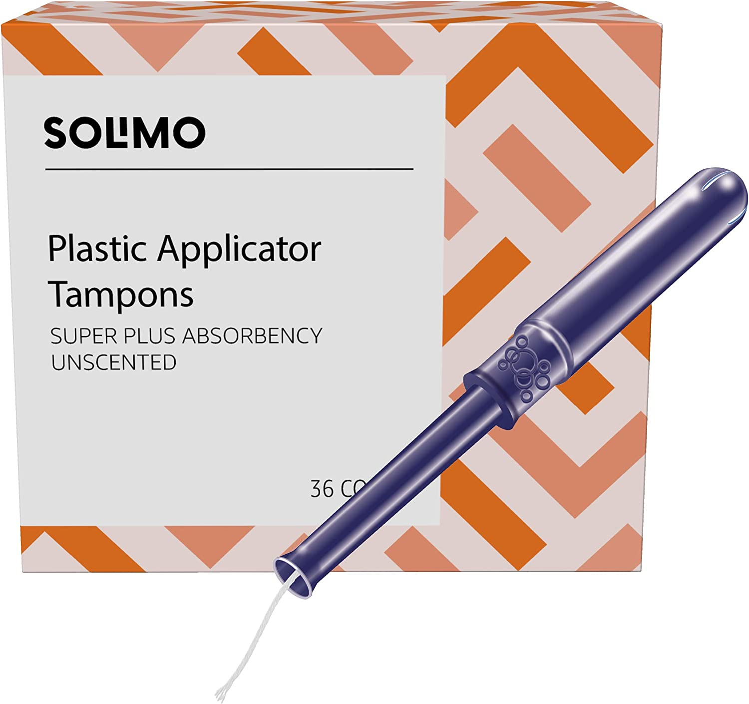 Columbus Mall Amazon Brand gift - Solimo Plastic Super Applicator Plus Abs Tampons