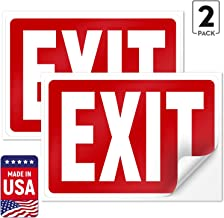 adhesive exit signs