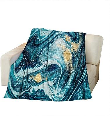 80 x 60 Fleece Blanket Kess InHouse EBI Emporium Butterfly Tribal 4 Teal Tan Painting Throw