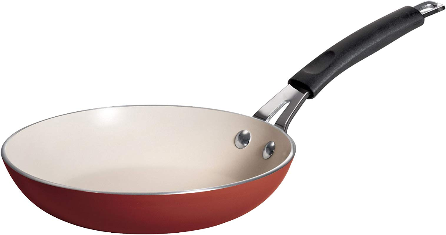 Tramontina 80151 053DS Style Simple Cooking Heavy Gauge Aluminum PFOA Free Nonstick Fry Pan 8 Inch Spice Red Made In USA